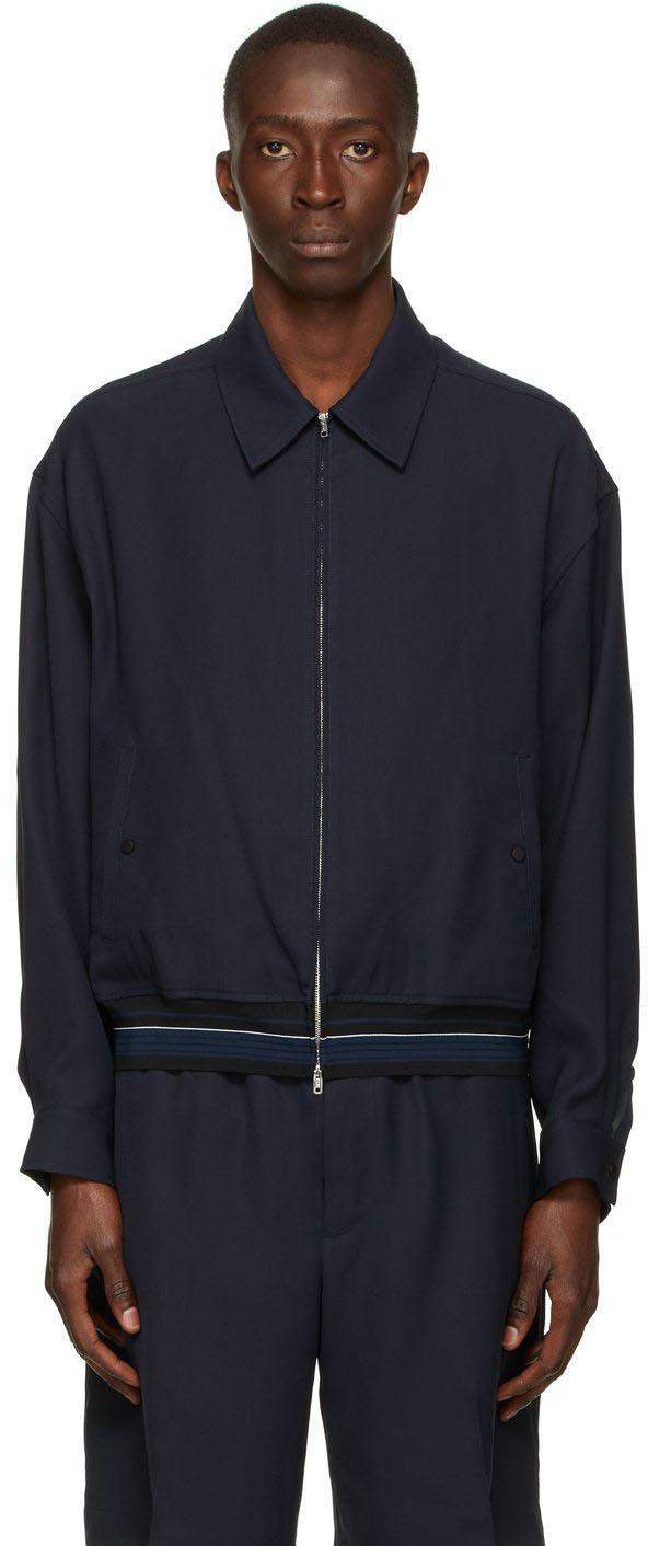 Photo: 3.1 Phillip Lim Navy Bowler Jacket
