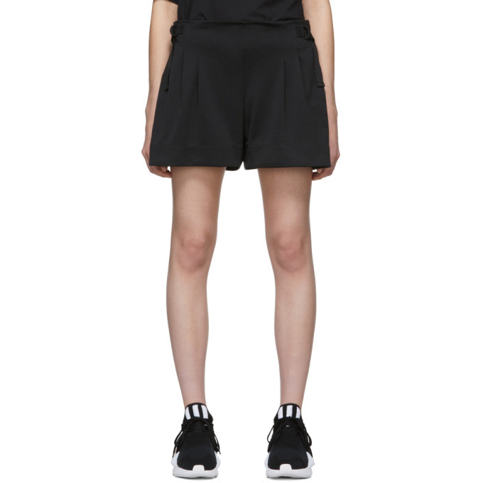Photo: Y-3 Black 3-Stripes Track Shorts