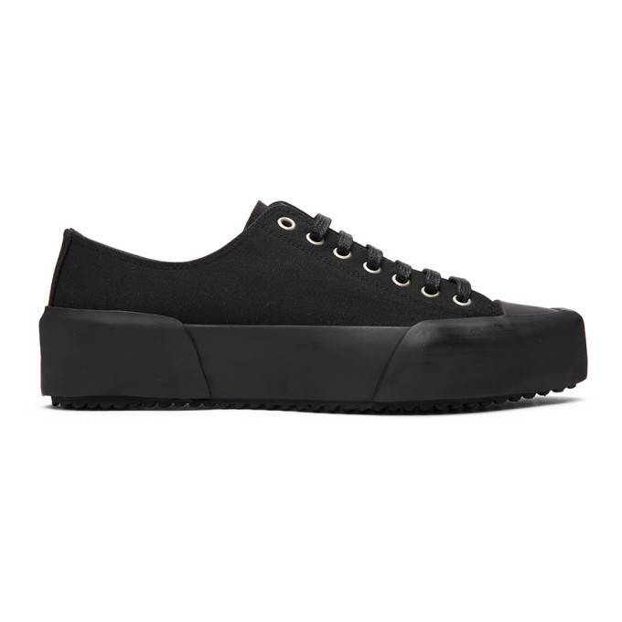 Photo: Jil Sander Black Canvas Sneakers