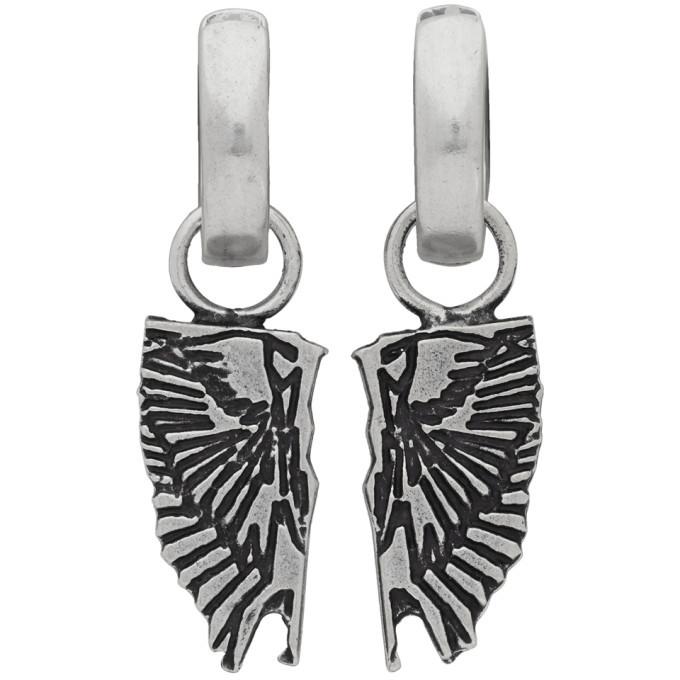 Photo: Marcelo Burlon County of Milan Silver Wings Pendant Earrings
