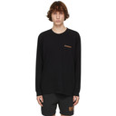 EDEN power corp Black Recycled Cotton Mycellium Long Sleeve T-Shirt