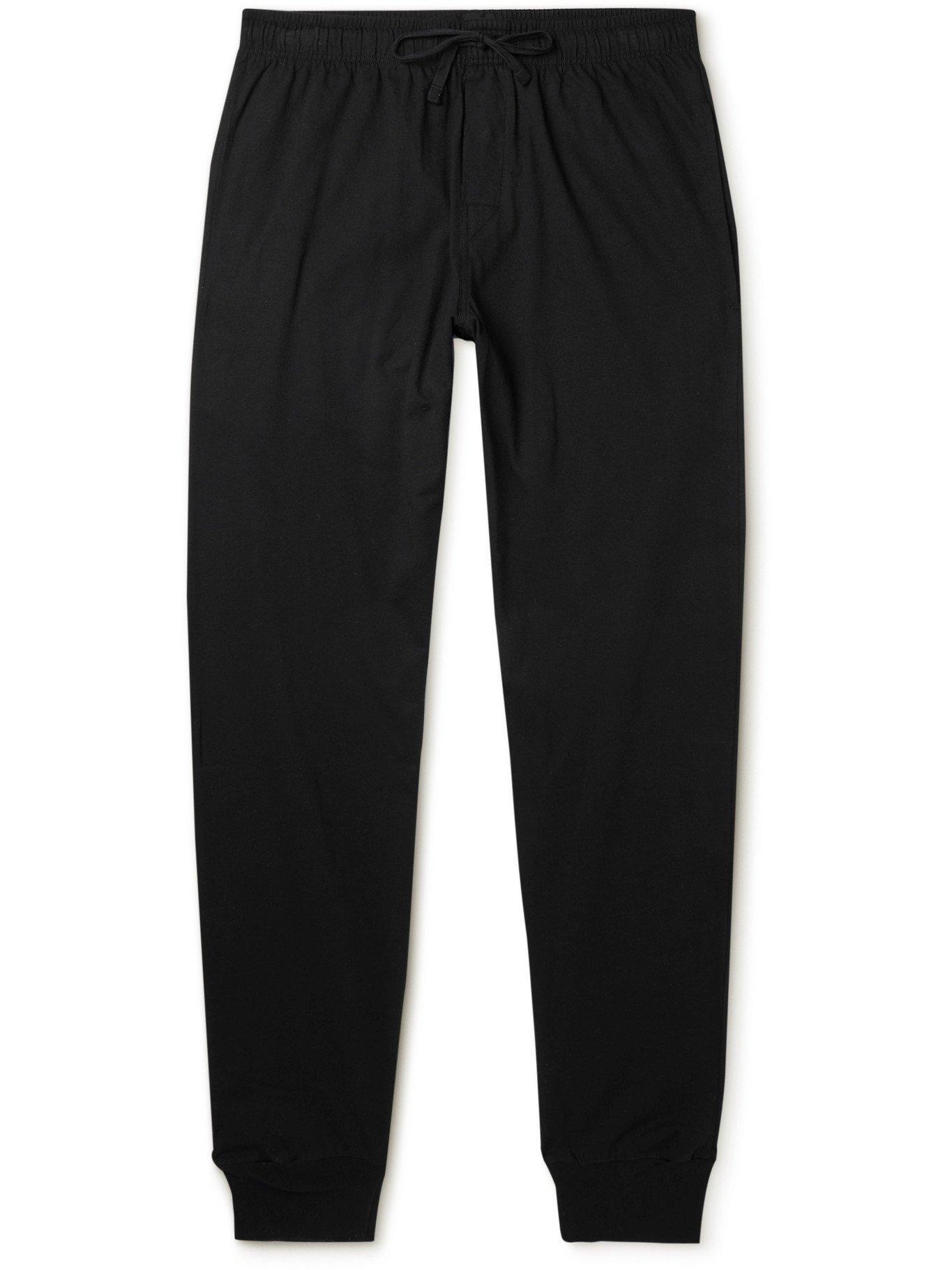 SCHIESSER - Cotton-Jersey Pyjama Trousers - Black - L