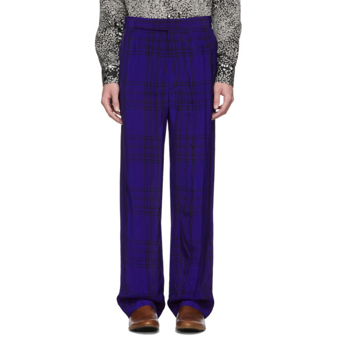 Photo: Haider Ackermann Blue Elastic Waistband Trousers