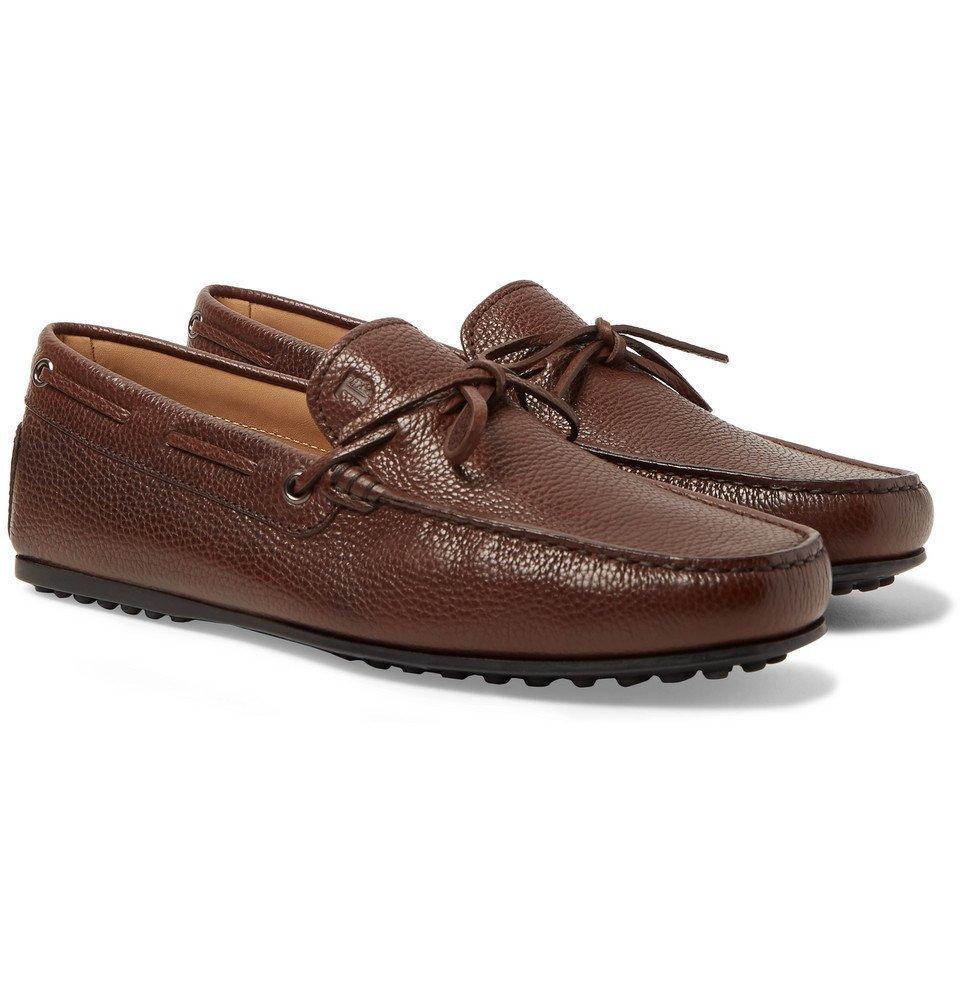 Tod's - City Gommino Full-Grain Leather Loafers - Men - Dark brown