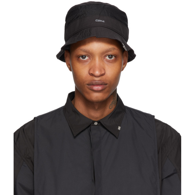 Photo: C2H4 Black Panelled Data Administrator Bucket Hat