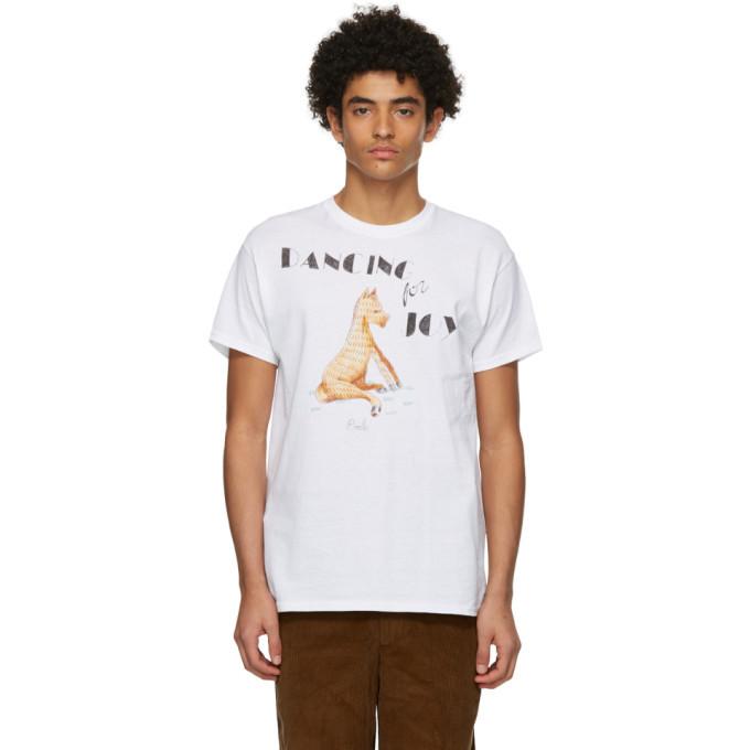 Photo: Bode White Hand-Drawn Horse T-Shirt