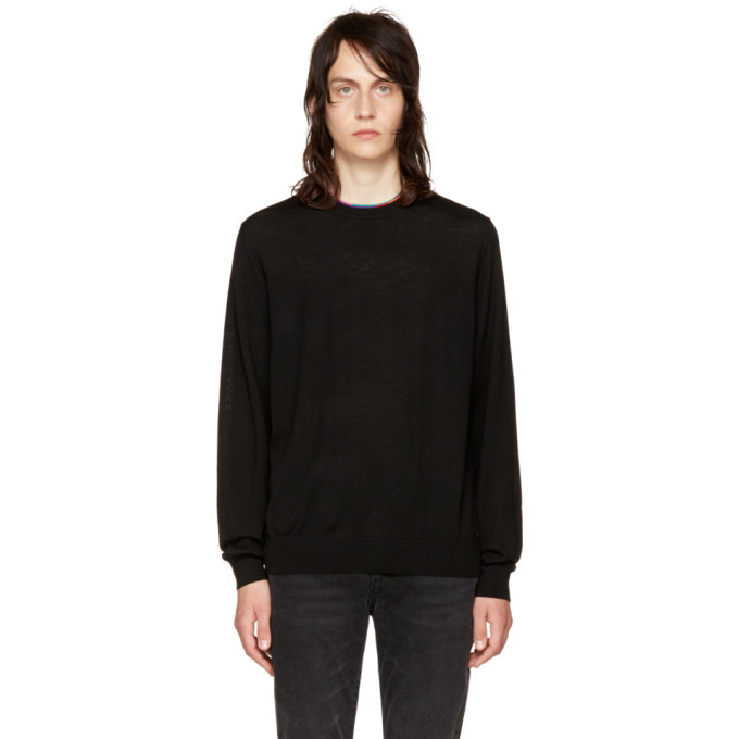 Photo: PS by Paul Smith Black Multistripe Sweater