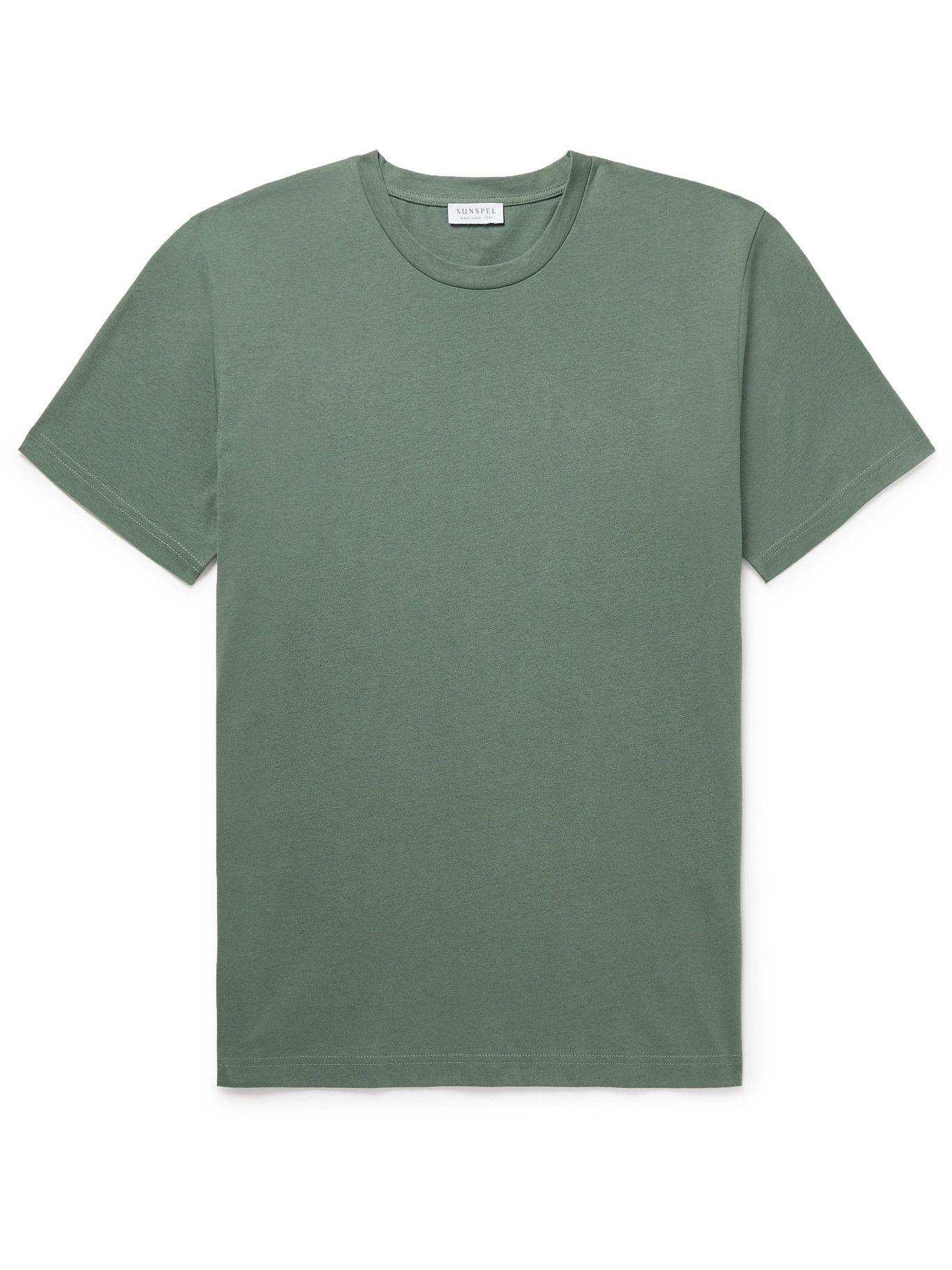 Photo: Sunspel - Riviera Cotton-Jersey T-Shirt - Green