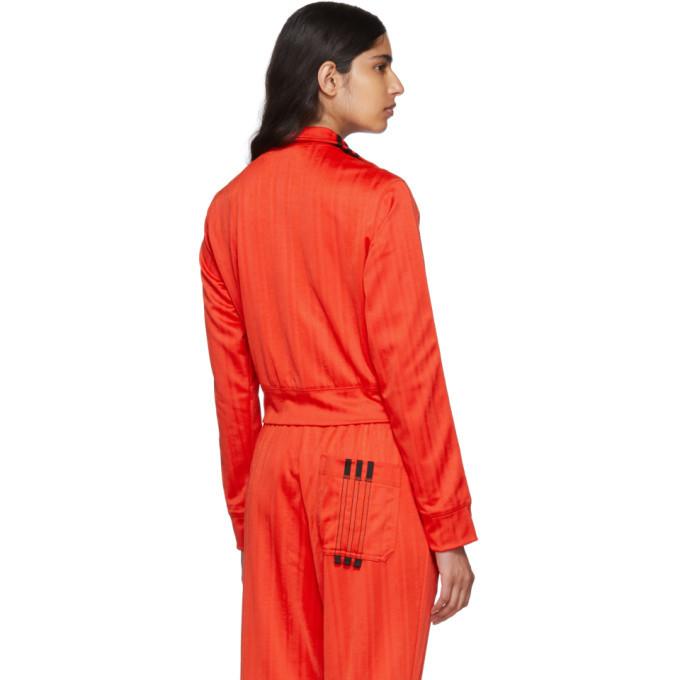 ab67c668ba1 adidas Originals by Alexander Wang Red Crop Track Jacket Adidas ...