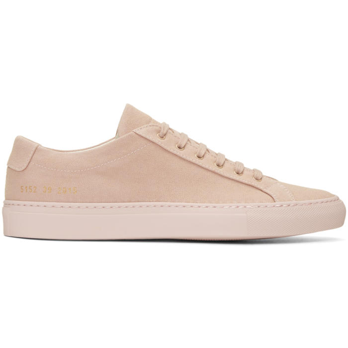 Common Projects Pink Canvas Achilles Low Sneakers