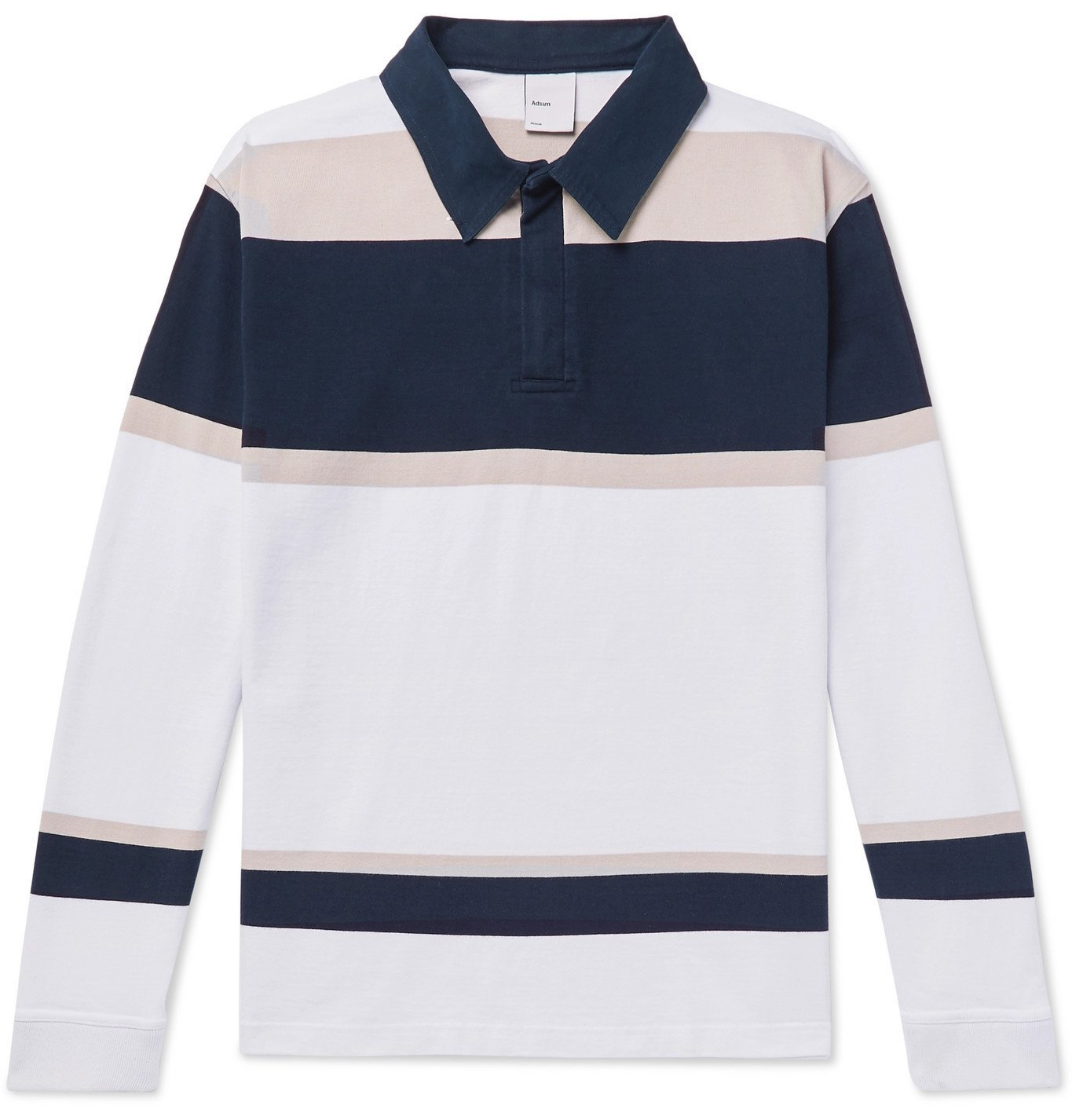 Photo: Adsum - Striped Cotton-Jersey Half-Zip Rugby Shirt - Multi