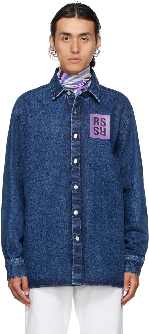 Photo: Raf Simons Blue & Purple Denim Straight Fit Shirt