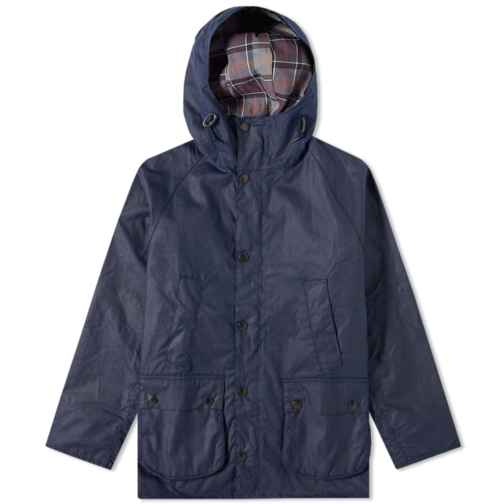 Photo: Barbour SL Bedale Hooded Wax Jacket - Japan Collection Indigo
