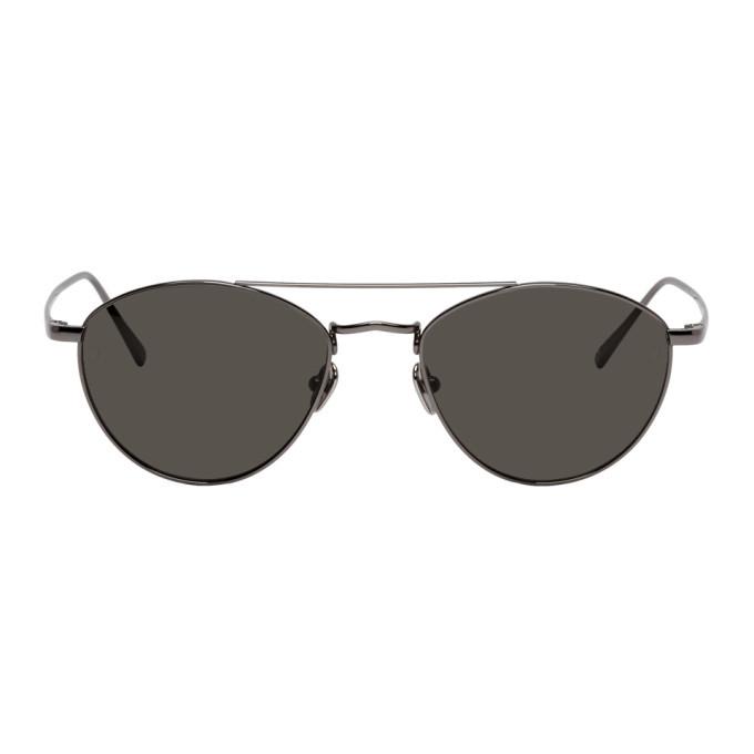 Photo: Linda Farrow Luxe Black Caine C6 Aviator Sunglasses