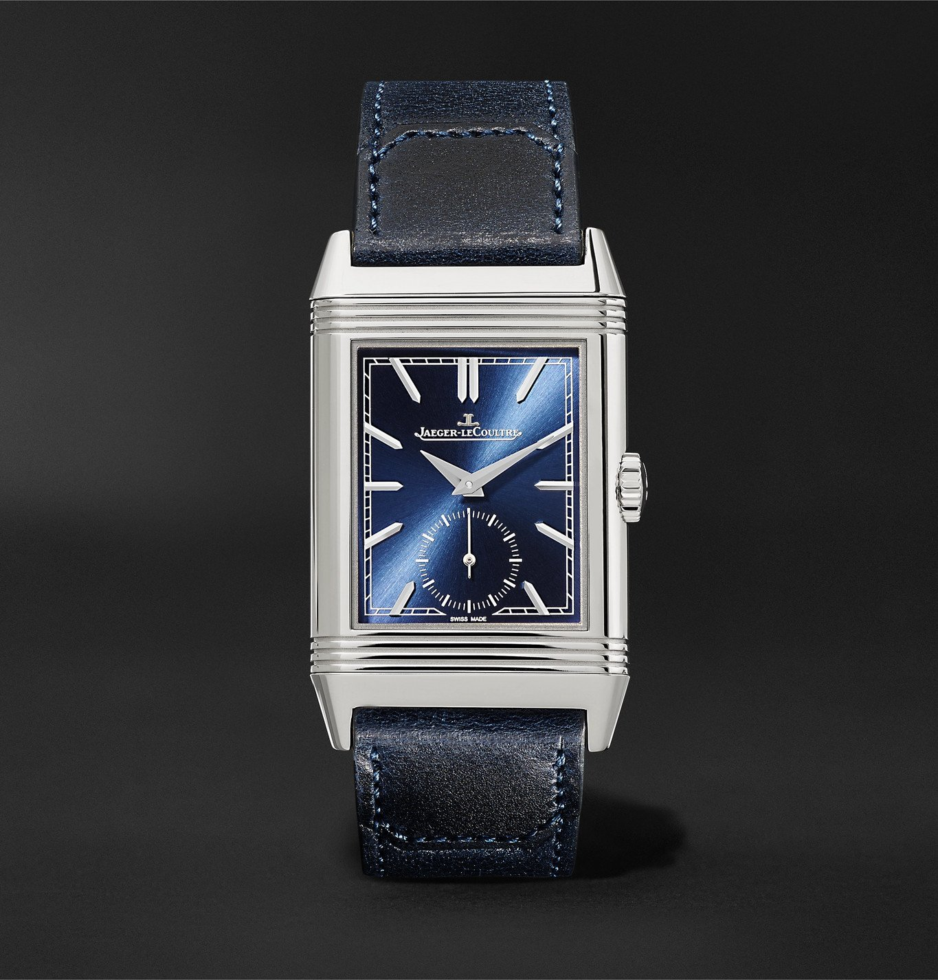 Photo: Jaeger-LeCoultre - Reverso Tribute Hand-Wound 27mm Stainless Steel and Leather Watch, Ref. No. Q3978480 - Unknown