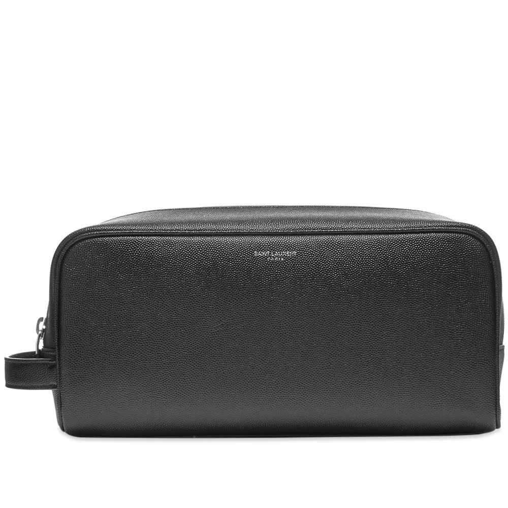 Photo: Saint Laurent Grain Leather Wash Bag