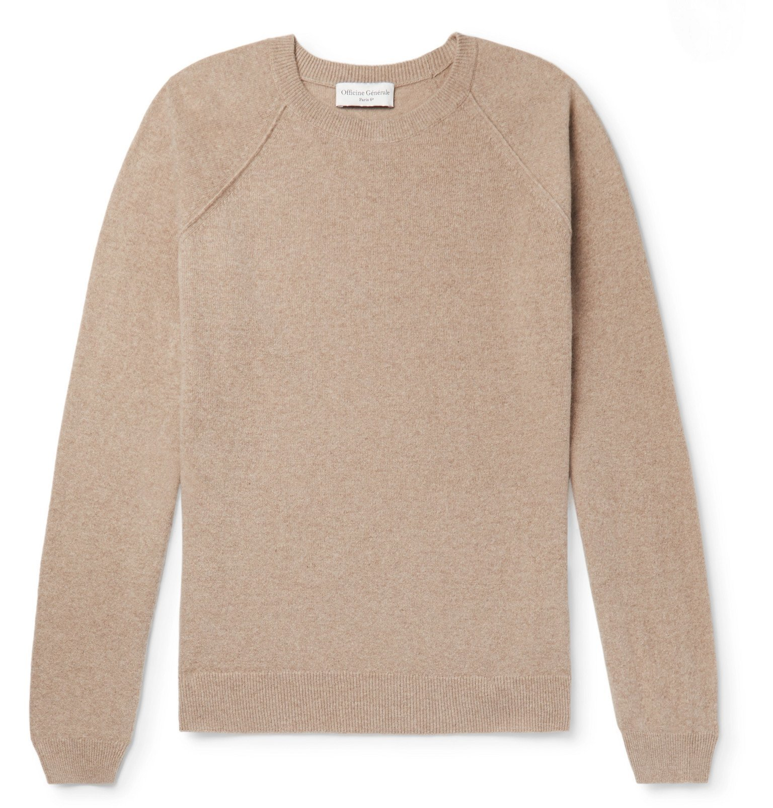Photo: Officine Generale - Cashmere and Wool-Blend Sweater - Brown