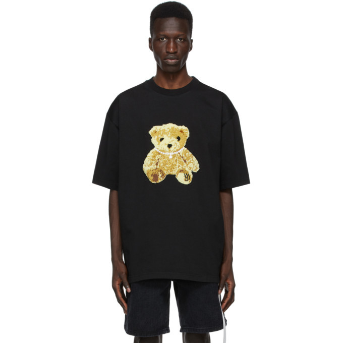 Photo: We11done Black Embroidered Teddy T-Shirt