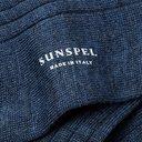 Sunspel - Ribbed Mélange Merino Wool Socks - Indigo