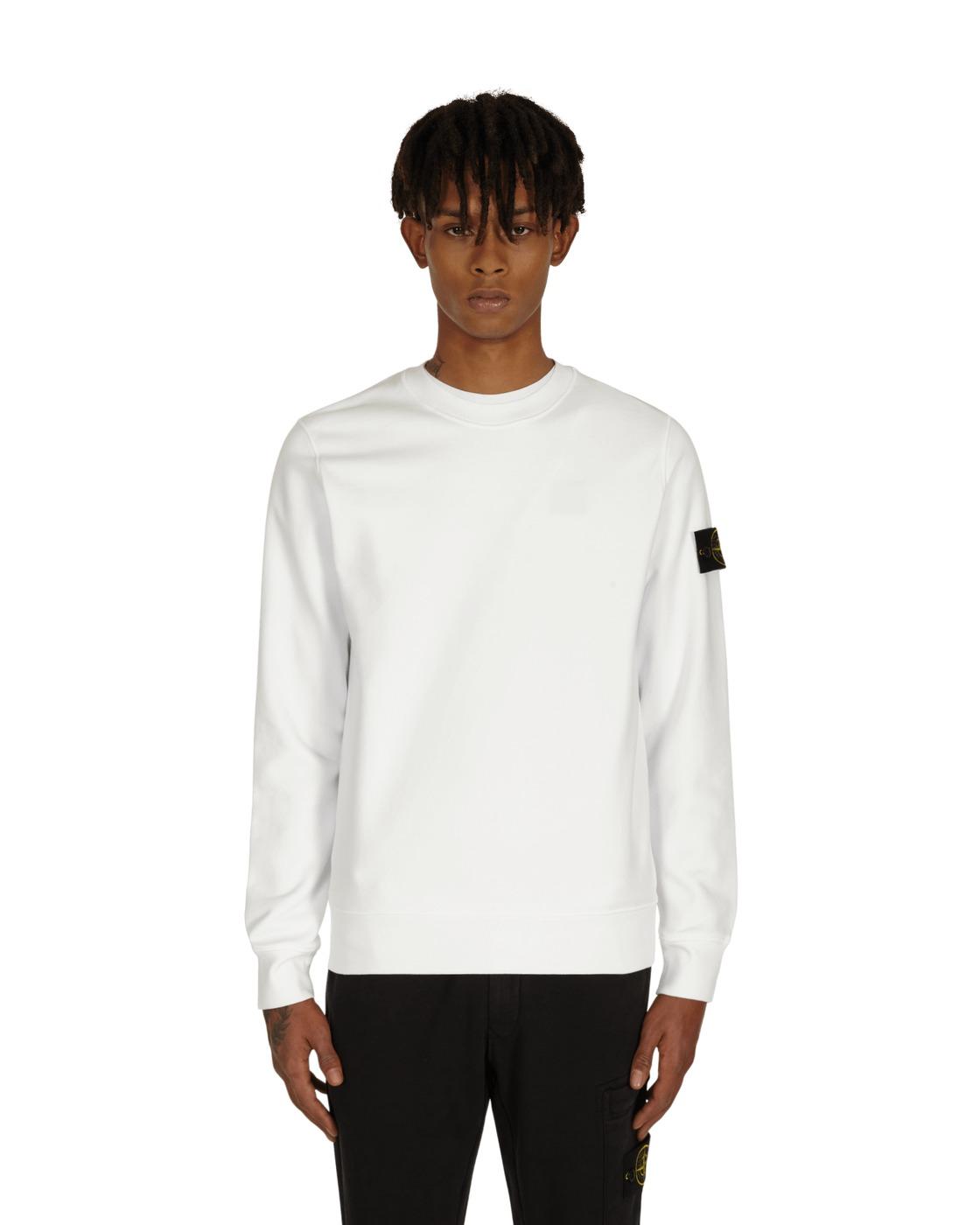 Stone Island Basic Crewneck Sweatshirt White