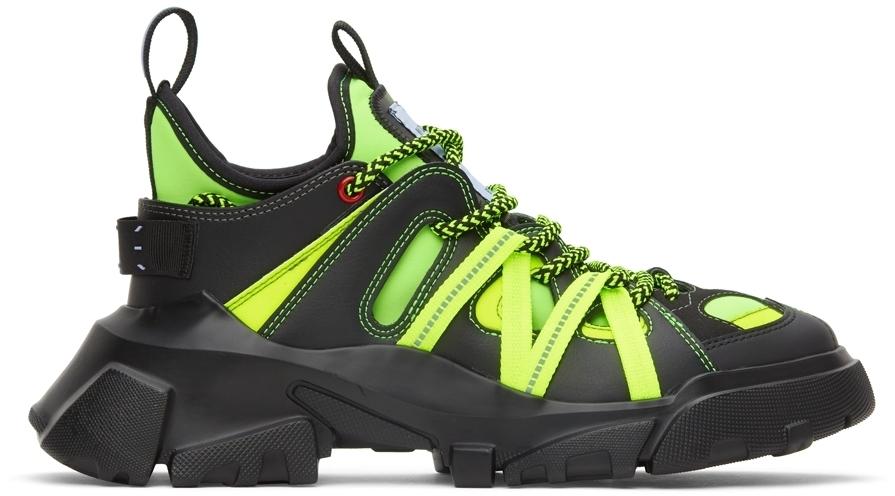 Photo: MCQ Black & Green In-8 Orbyt Descender Sneakers