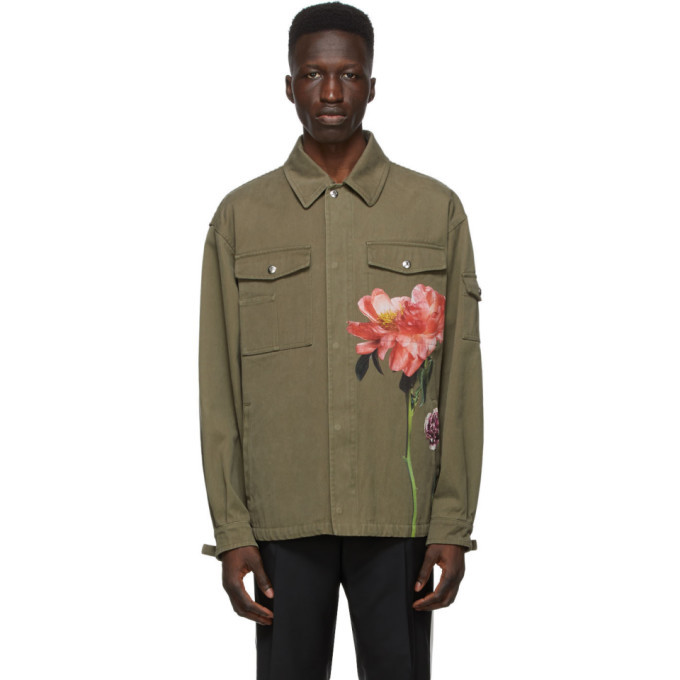 Photo: Valentino Khaki Inez and Vinoodh Edition Khaki Denim Floral Jacket