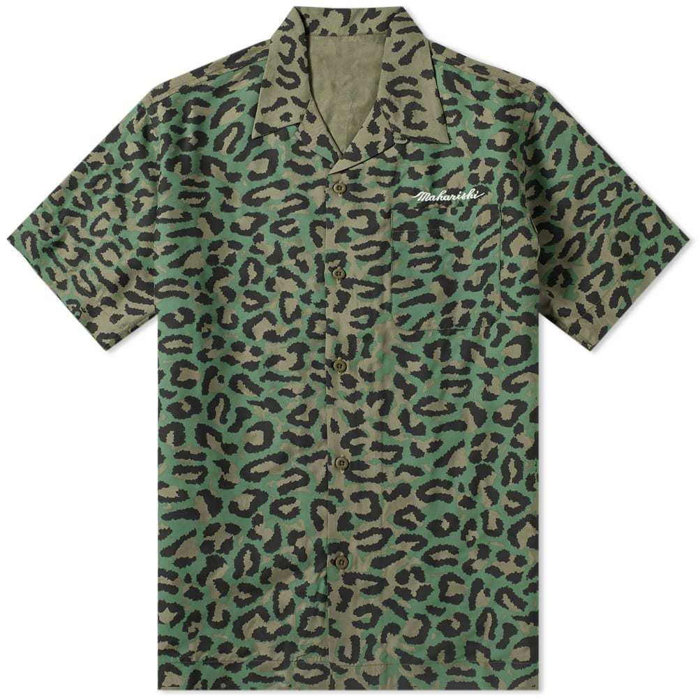 Photo: Maharishi Short Sleeve Leopard Camo Vaction Shirt Woodland
