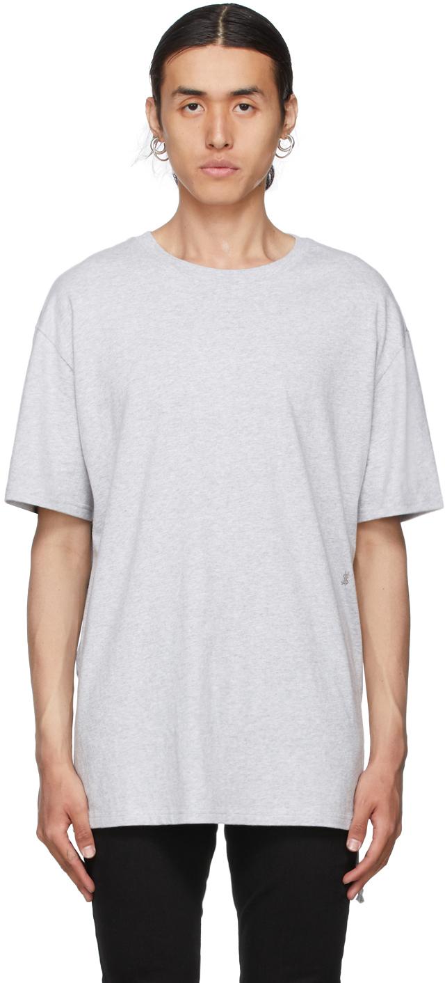 Photo: Ksubi Grey 4 x 4 Kross Biggie T-Shirt