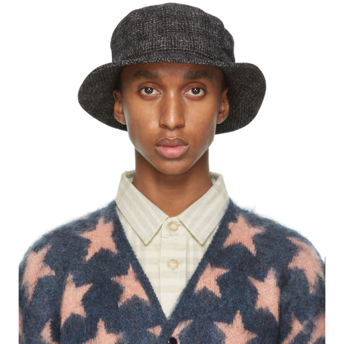 Photo: Needles Black British Tweed Bucket Hat