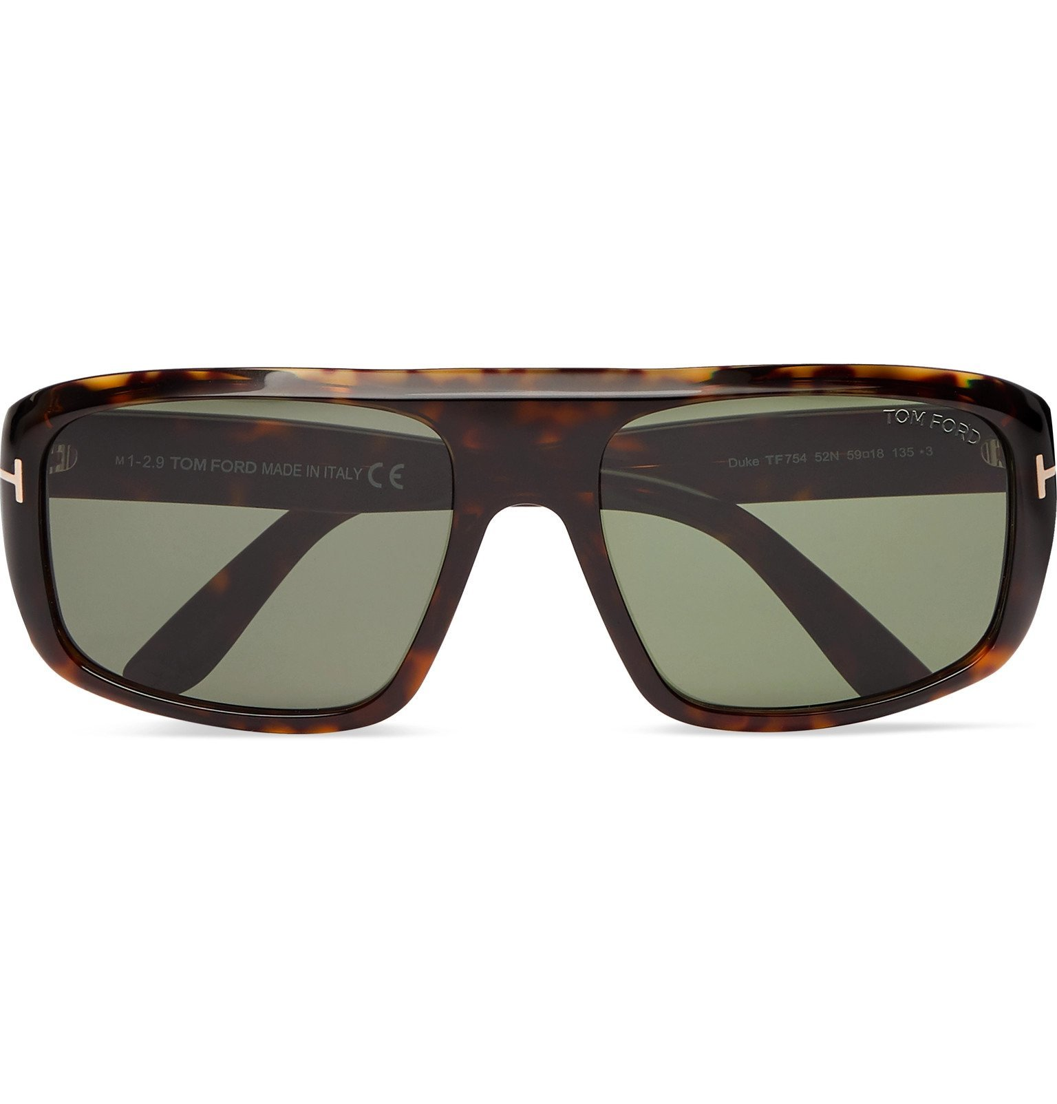 Photo: TOM FORD - Duke Square-Frame Tortoiseshell Acetate Sunglasses - Brown