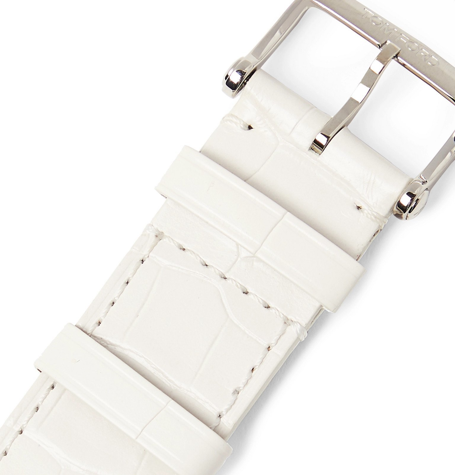 Tom Ford Timepieces - Alligator Watch Strap - White