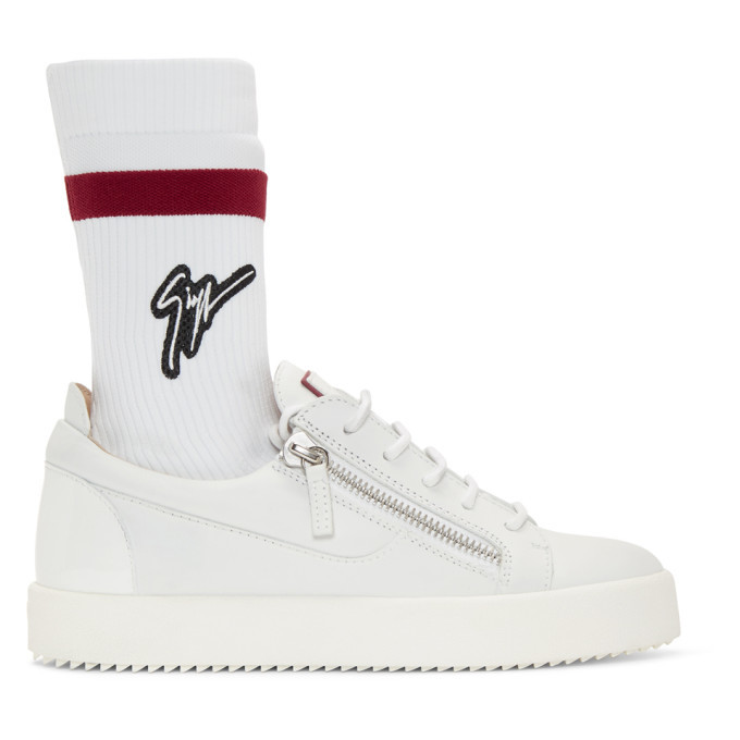 Photo: Giuseppe Zanotti Off-White May London Sock Sneakers