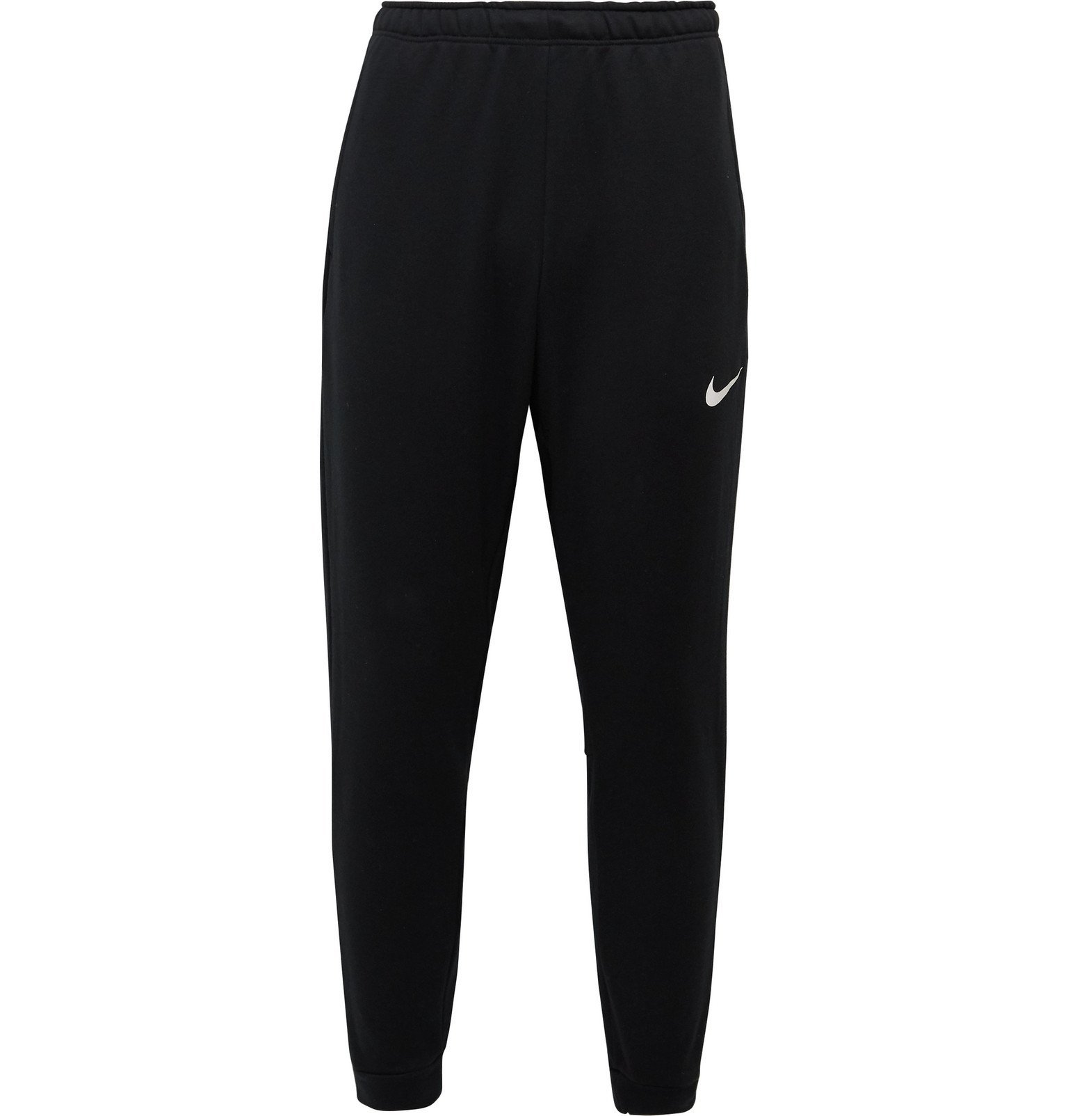 Photo: Nike Training - Slim-Fit Tapered Logo-Print Fleece-Back Jersey Sweatpants - Black
