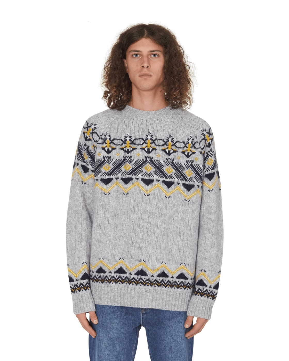 Photo: Wood Wood Gunther Sweater Grey Jacquard