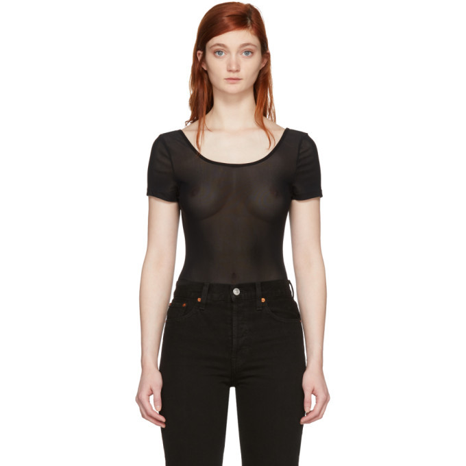 Won Hundred Black Mesh Roberta Bodysuit