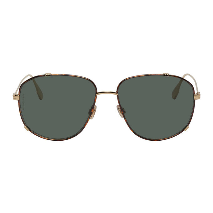 Photo: Dior Tortoiseshell and Gold DiorMonsieur3 Sunglasses