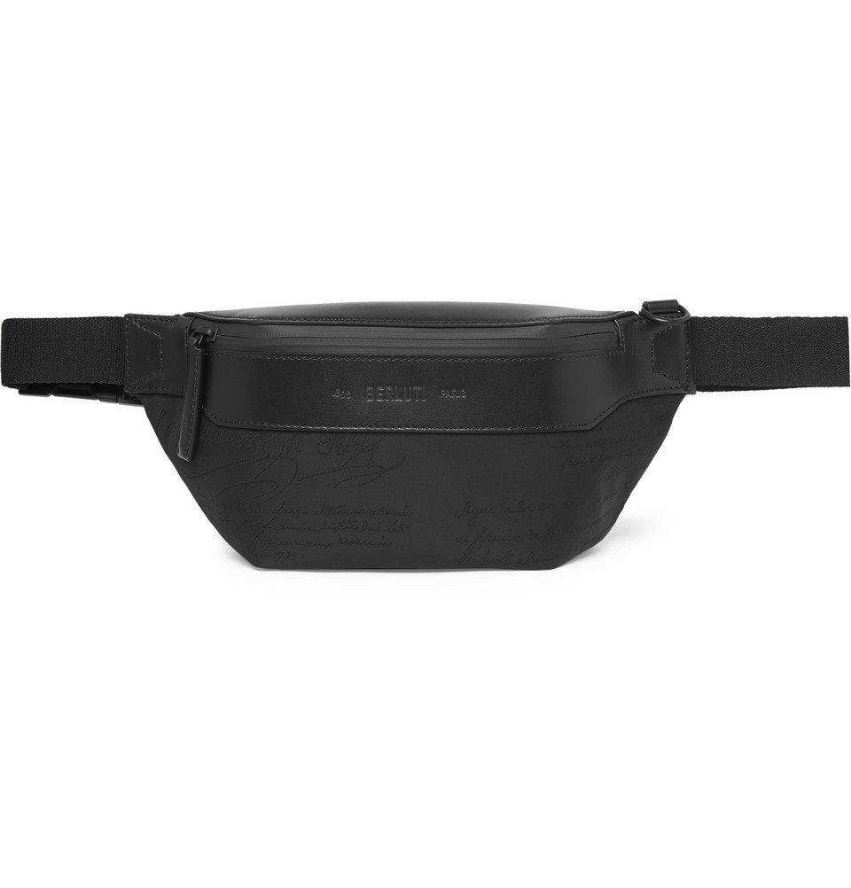 Photo: Berluti - Scritto Leather-Trimmed Nylon Belt Bag - Black