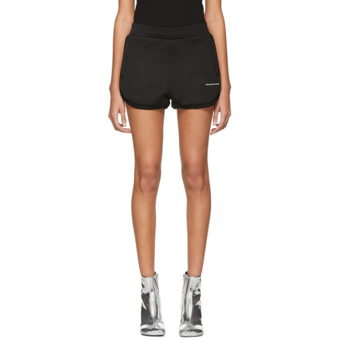 alexanderwang.t Black Heavy Sleek Track Shorts