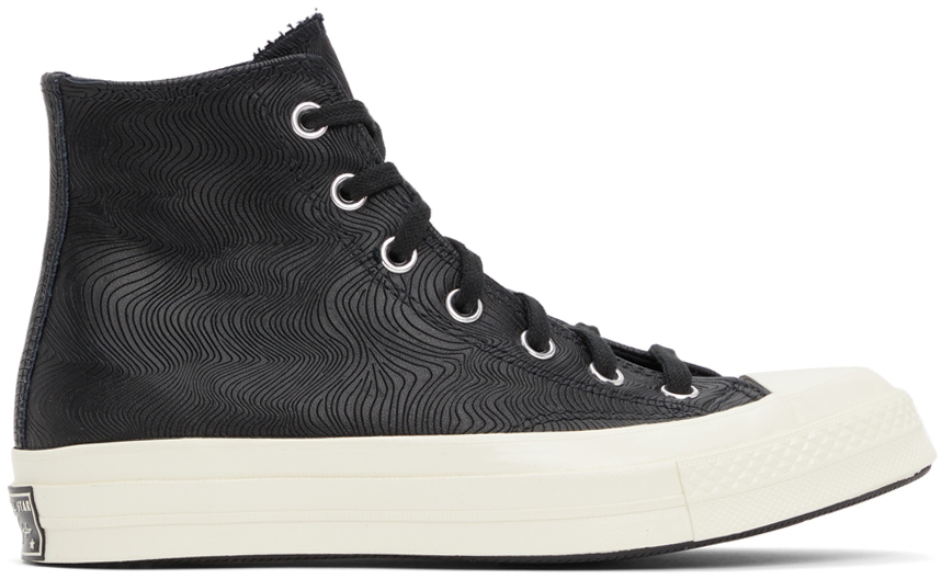 Photo: Converse Black Leather Chuck 70 Hi Sneakers