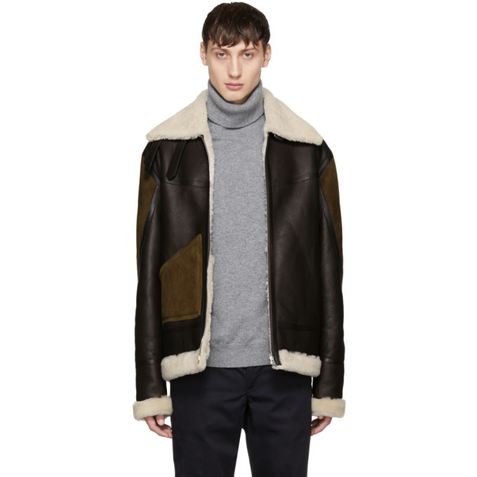 Photo: Paul Smith Brown Panelled Shearling Jacket