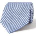 GIORGIO ARMANI - 8cm Striped Silk-Twill Tie - Blue