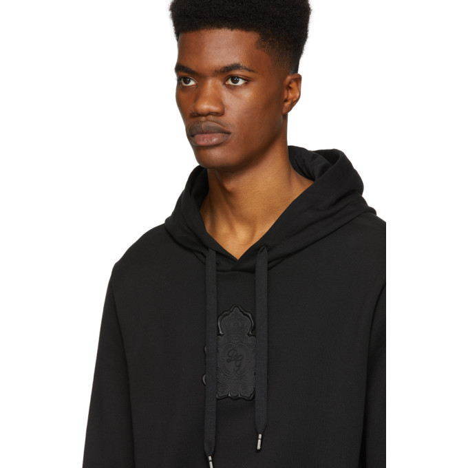 Dolce and Gabbana Black Logo Patch Hoodie