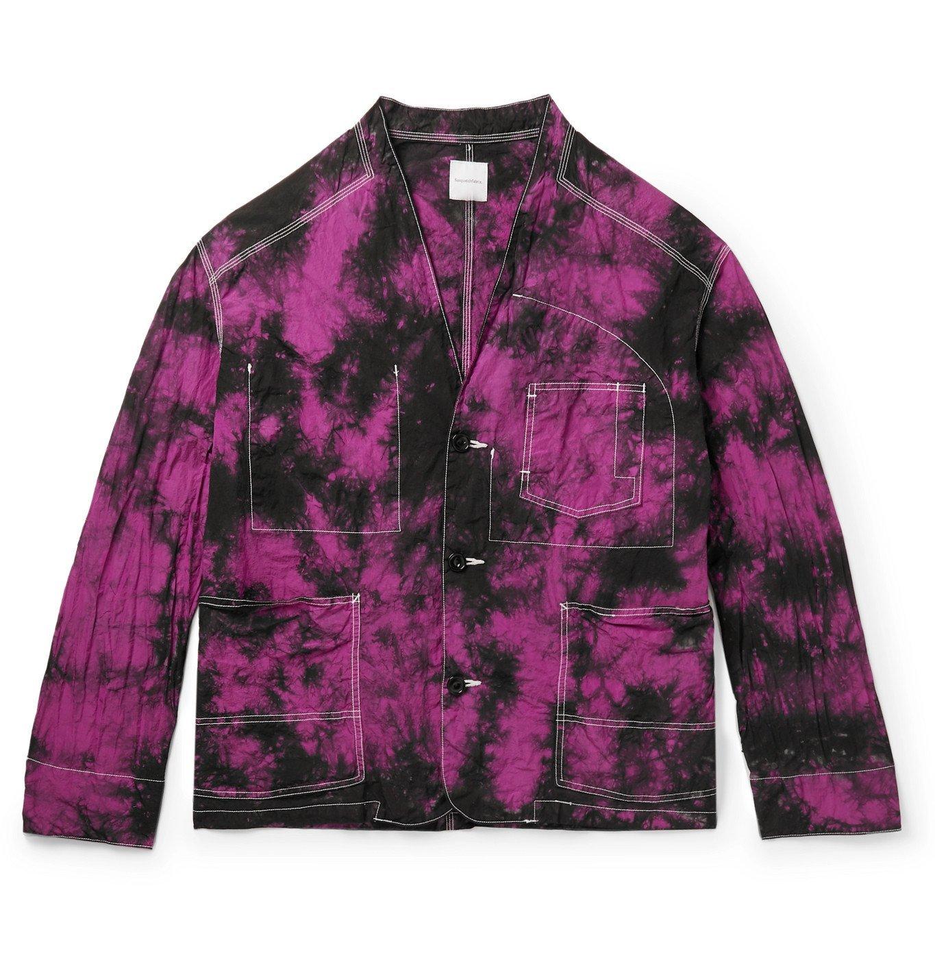 Photo: Sasquatchfabrix. - Tie-Dyed Nylon Jacket - Pink