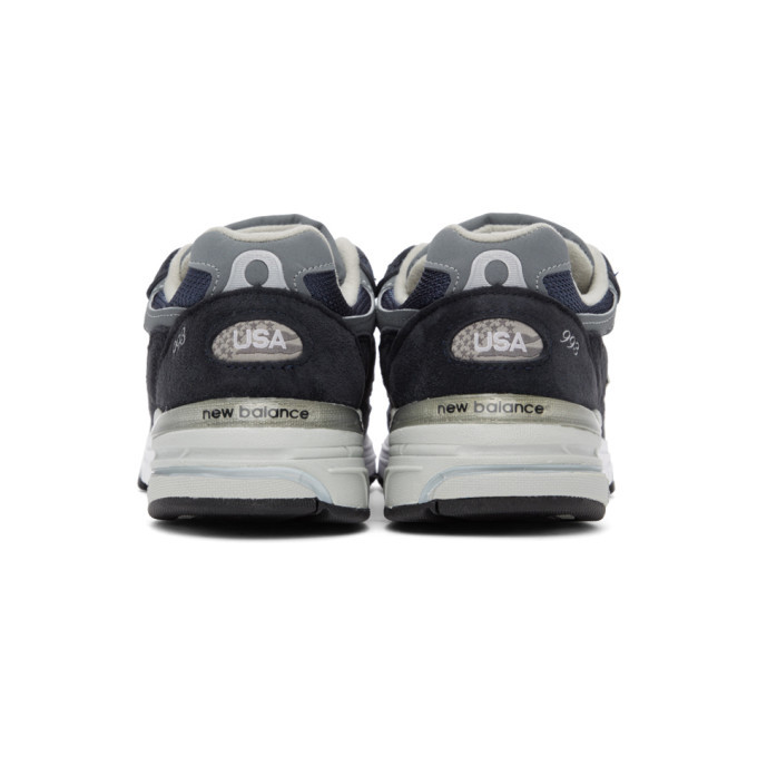 New Balance Navy and Grey US Made 993 Sneakers