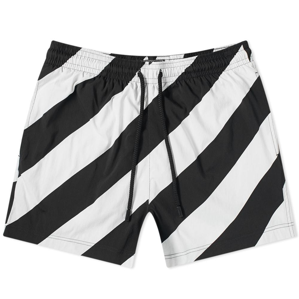 Photo: Off-White x Vilebrequin Striped Moorise Swim Short