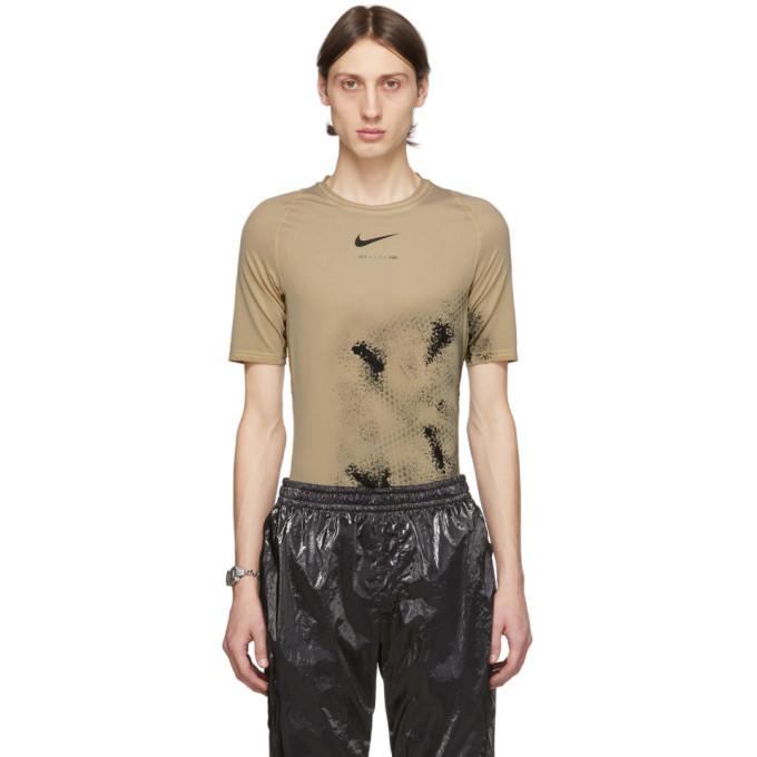 Photo: 1017 ALYX 9SM Beige Nike Edition Treated Short Sleeve T-Shirt