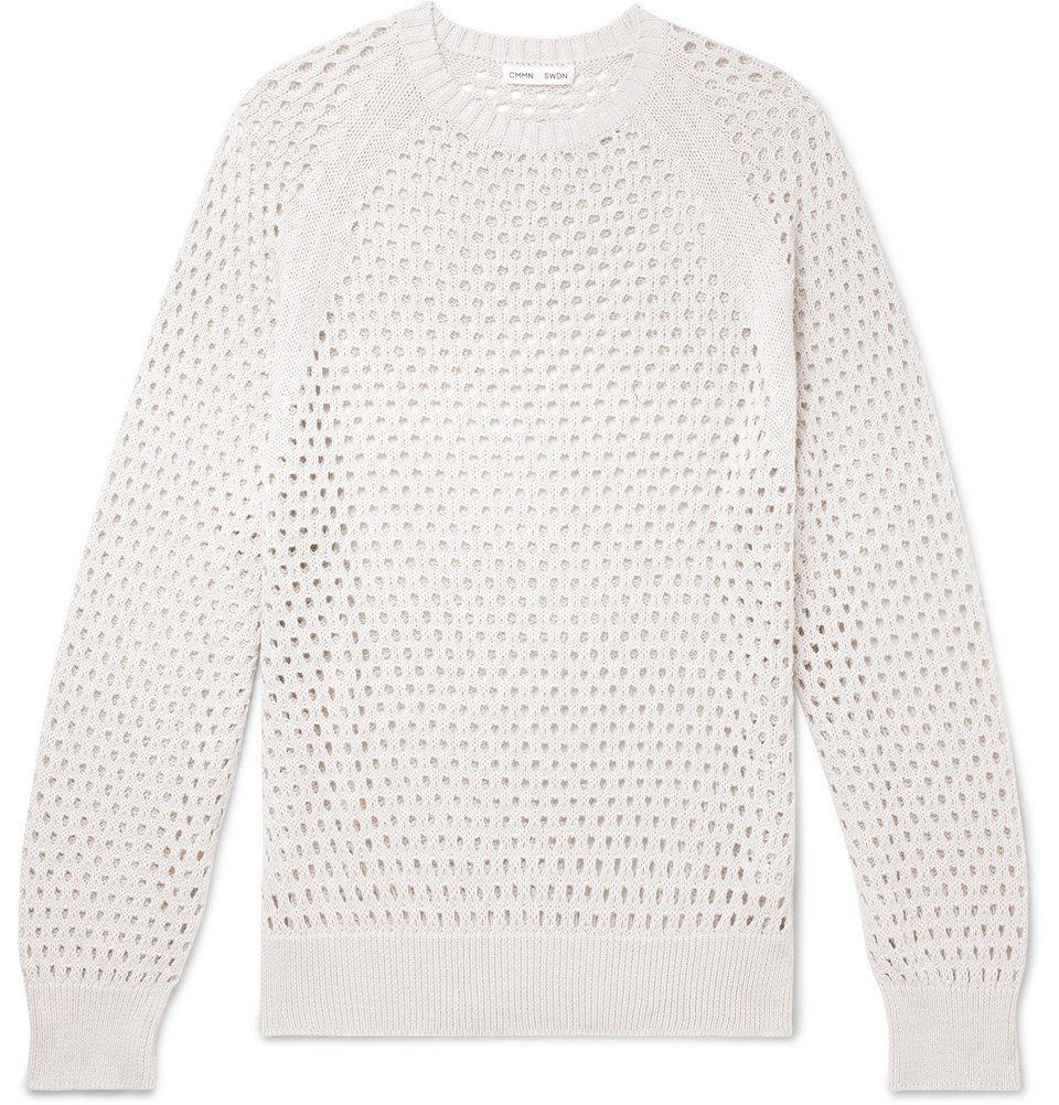 Photo: CMMN SWDN - Toby Knitted Cotton Sweater - Off-white