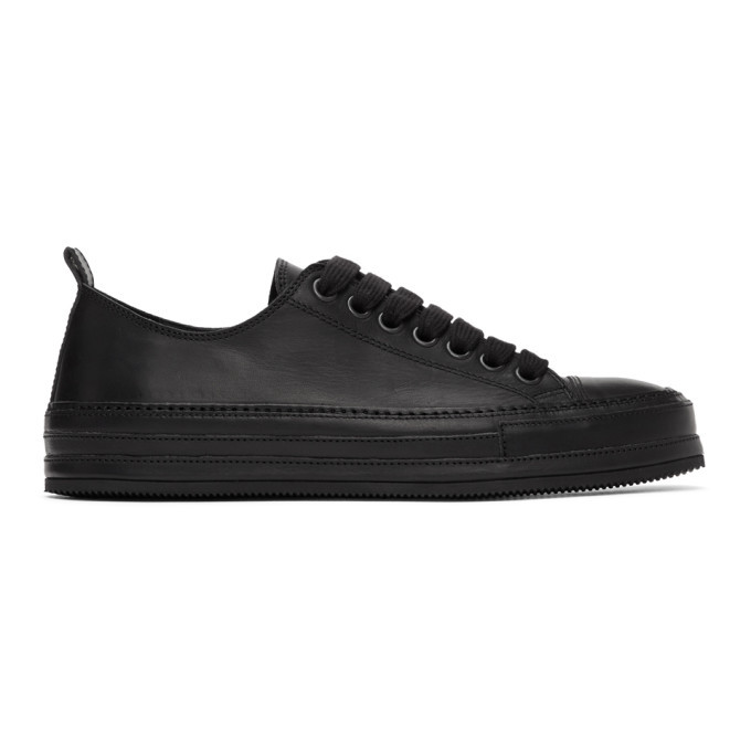 Photo: Ann Demeulemeester Black Suede Low-Top Sneakers