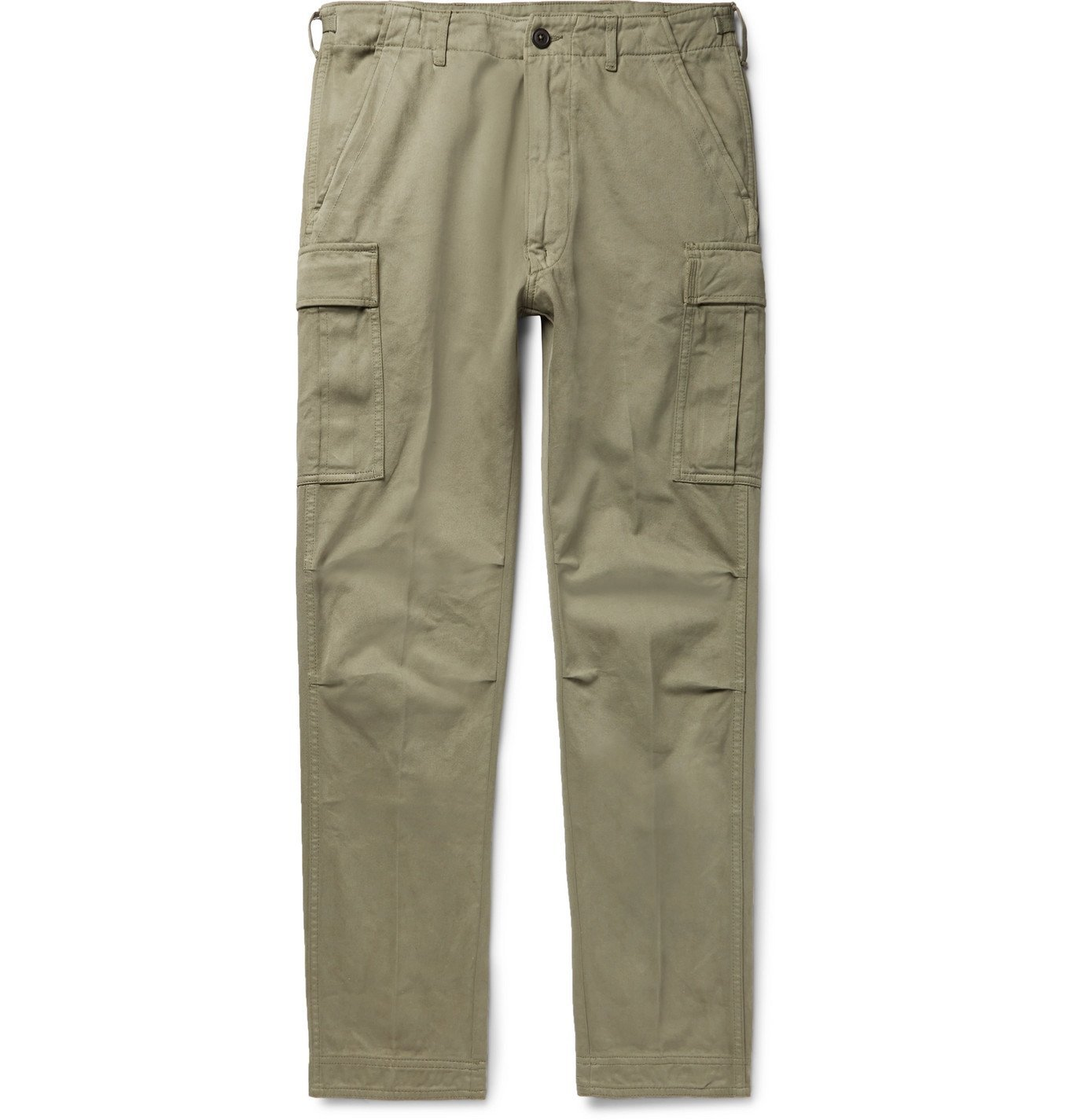 TOM FORD - Slim-Fit Cotton-Twill Cargo Trousers - Green