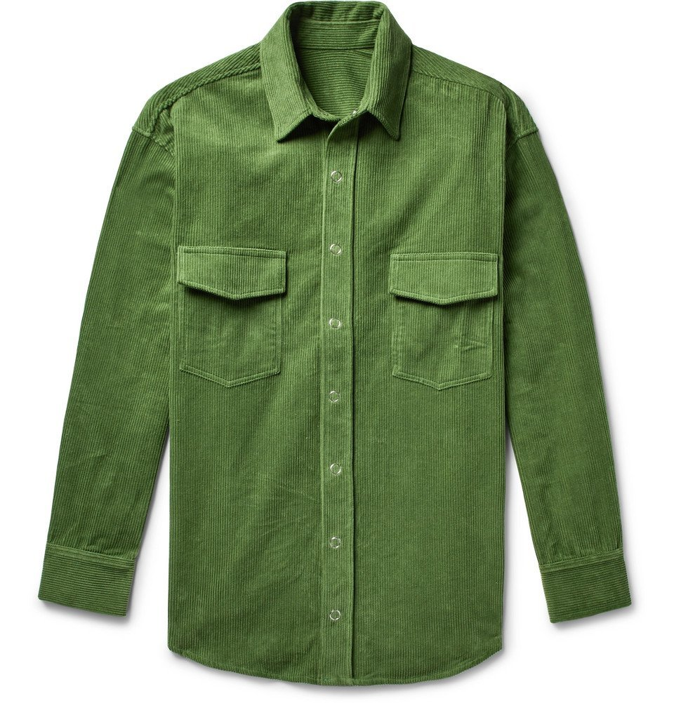 Photo: The Elder Statesman - Cotton-Corduroy Shirt Jacket - Green